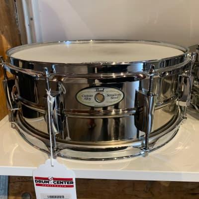Used Pearl Sensitone Steel Snare Drum 14x5