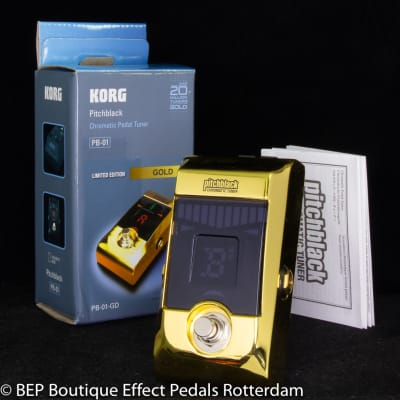 Korg PB-01 Pitchblack Chromatic Tuner s/n 299309 Gold Limited Edition