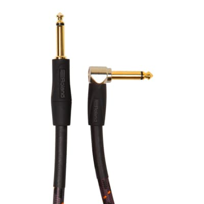 Roland Gold Series Instrument Cable, Angled/Straight - 10FT / RIC-G10A