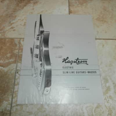 Vintage 1960's Hagstrom Slim Line Guitars-Basses Catalog! Rare, Original! Impala, Condor, F-200!