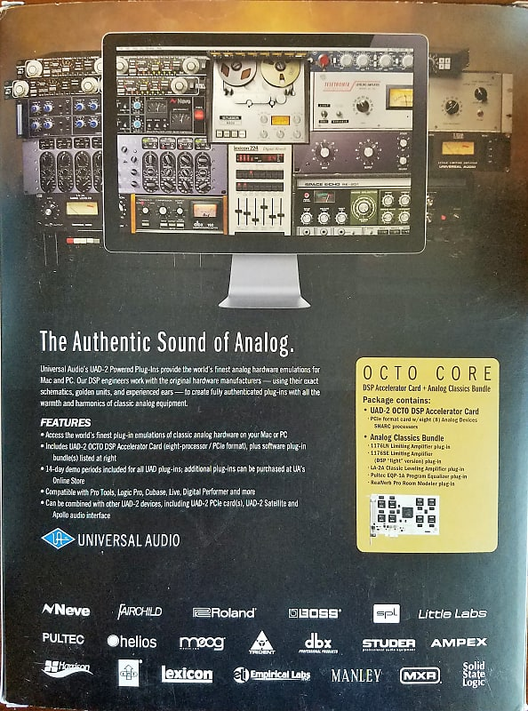 Universal Audio UAD-2 Octo Core PCIe Powered Plugin Card w/ 27 plugins