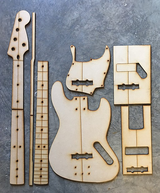 Guitar Building Templates 5 String Jazz Bass Luthier Tools | Reverb