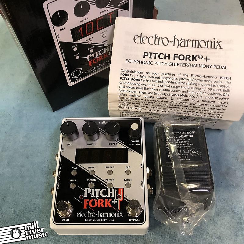 Electro-Harmonix EHX Pitch Fork Plus Polyphonic Pitch Shifter Pedal w/ Box