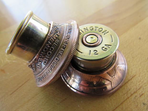 custom guitar knob remington right to bear arms 2017 brass reverb. Black Bedroom Furniture Sets. Home Design Ideas