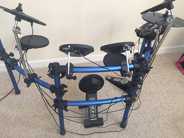 Simmons Sd1000 Electronic Drums 5 Piece Set With Stagg Reverb