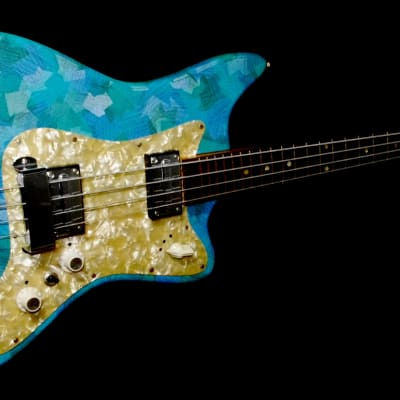 Egmond BEG 2-V 1967 Blue Vinyl.  Retro Cool Bass. A true vintage piece. RARE. for sale