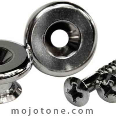 Gotoh Oversized Strap Buttons (Nickel)