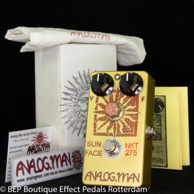 Analogman Sunface Fuzz NKT-275 Red Dot ( Low Gain ) 2019 Small Box, Side Jacks, LED, On/Off Fuzz Pot