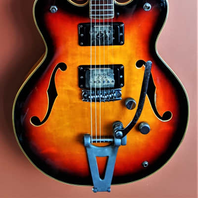 Elk Galaxy 1972 Sunburst RARE with Hard shell case for sale