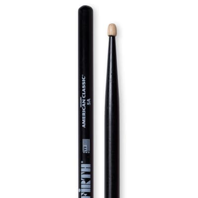 Vic Firth American Classic 5A Black Wood Tip Pair Drumsticks