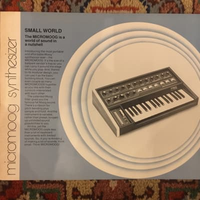 Moog Micromoog - 1976 dealer pamphlet/spec sheet