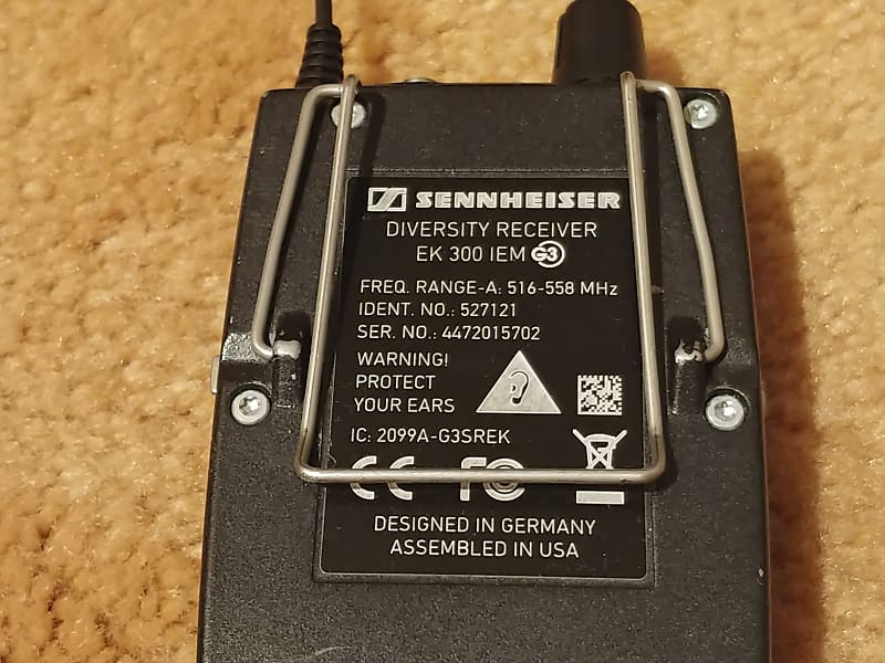 sennheiser ew 300 iem g3 a in ear wireless monitor system reverb. Black Bedroom Furniture Sets. Home Design Ideas