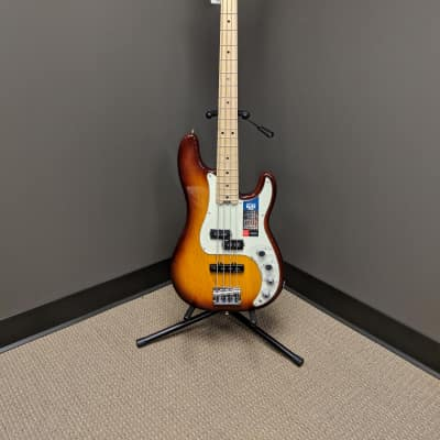 Fender American Elite Precision Bass 2017 Tobacco Sunburst for sale
