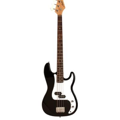 Austin  APB200 Double Cutaway Bass Black for sale