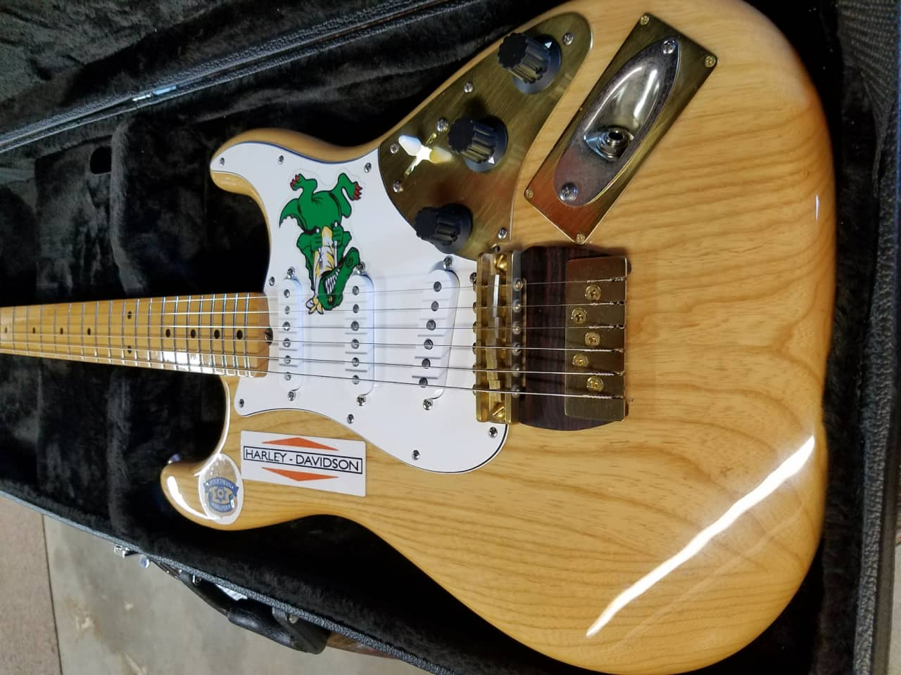 Jerry Garcia Gator Awesome Strat Natural Rusch Guitars