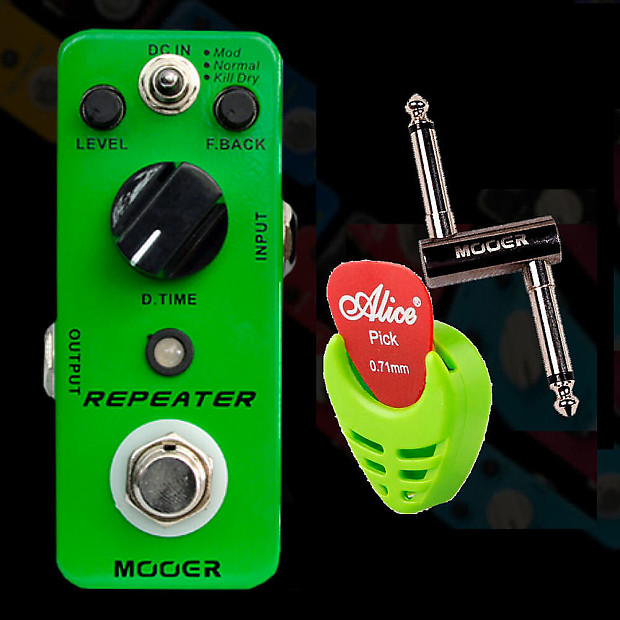 mooer audio repeater delay 1000ms guitar effect pedal pc z reverb. Black Bedroom Furniture Sets. Home Design Ideas