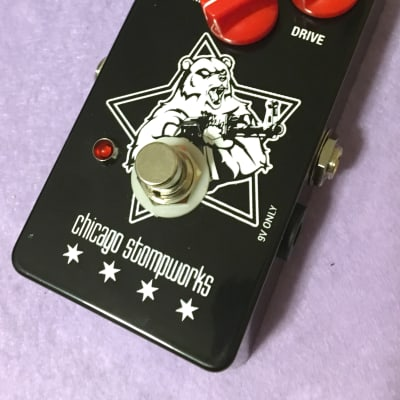 Chicago Stompworks Angry Bear Bubble Font Black Russian Big Muff clone