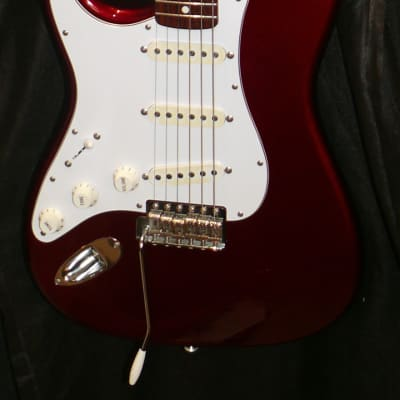Fender Japan JD15 `62 Stratocaster Reissue Left-Handed Old Candy Apple RED (OCR) for sale
