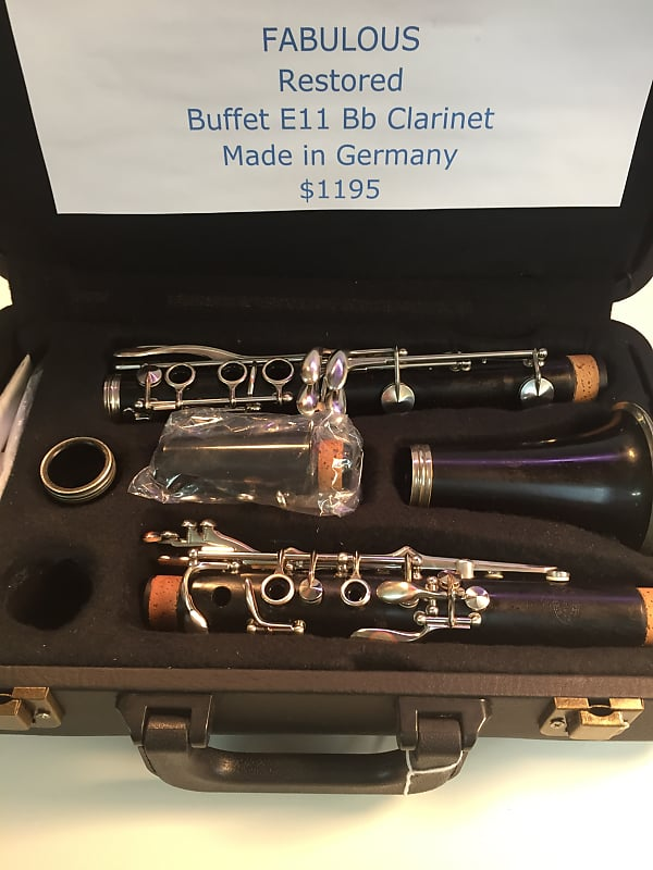 Fantastic Buffet E11 Wood Made In Germany Restored Great Intermediate Clarinet Great Tone Download Free Architecture Designs Itiscsunscenecom
