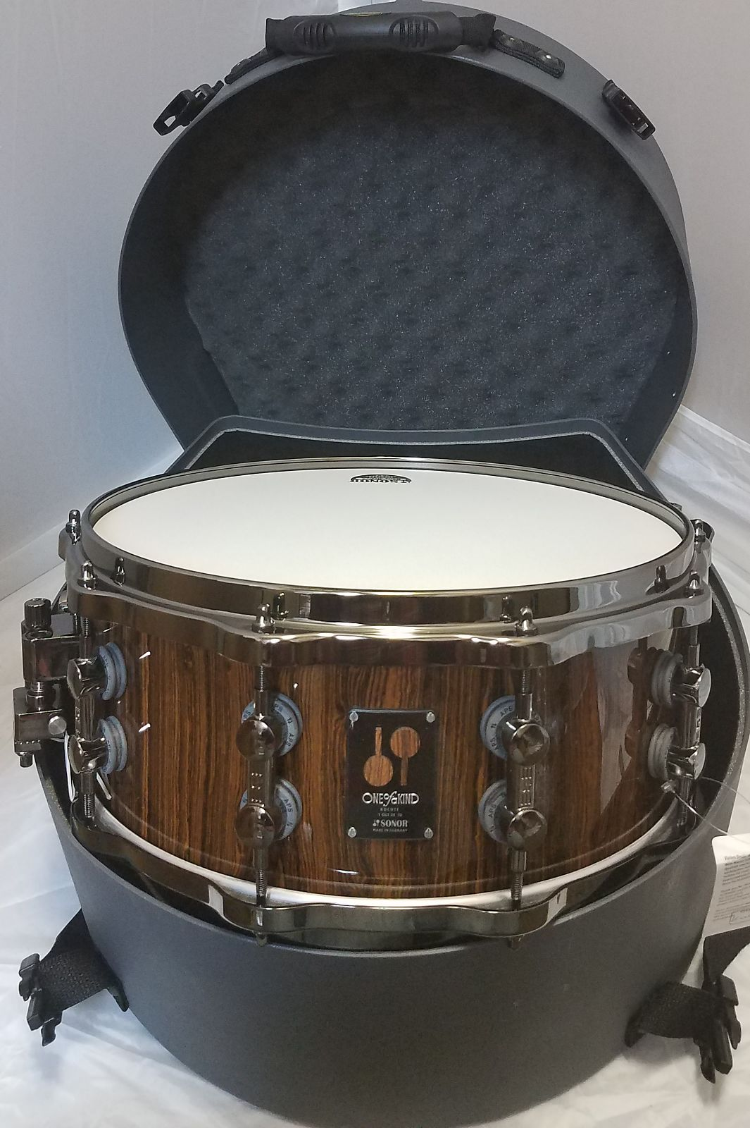 NEW Sonor Bocote One Of A Kind 21 ply 14x6 Beech OOAK Snare Drum 1 of 70 w/Hard Case Worldwide Ship!