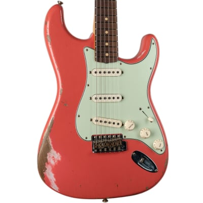 FENDER CUSTOM SHOP 1959 STRATOCASTER HEAVY RELIC - FADED AGED TAHITIAN CORAL