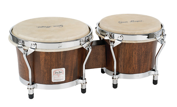 Natural 7 Gon Bops MBBG Mariano Series Bongos Hand Drums Durian Wood 8.5/""