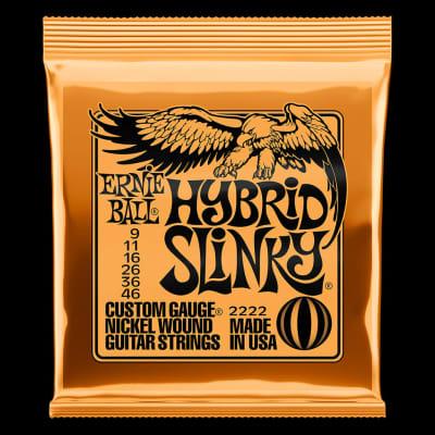 Ernie Ball 2222 Regular Hybrid Slinky Nickel Wound Electric Guitar Strings - 9-46