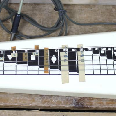 Supro National Electric Guitar Lap Steel 1950's white for sale