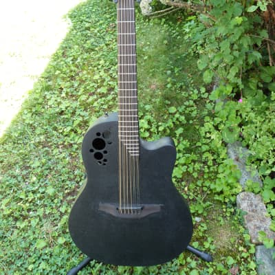 Ovation 2058T elite T USA 12 string  black