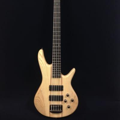Haze B-337N 5-String Electric Bass Guitar,Pre-Amp,Natural Matt, w/Free gig bag for sale