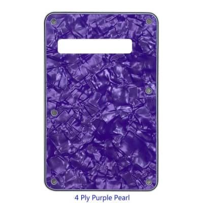 3 or 4 Ply Strat Tremolo Cavity Cover Backplate for Fender Stratocaster Modern Style Electric Guitar - 4Ply Purple Pearl for sale