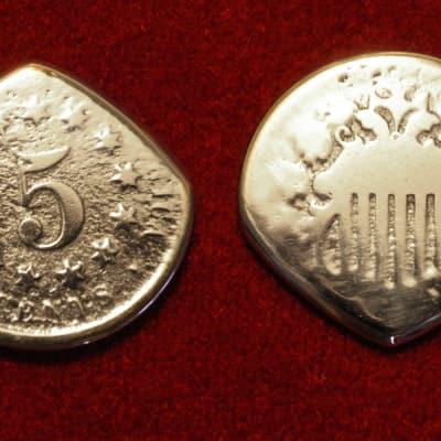 Master Artisan USA Civil War Era Shield Nickel Coin Guitar Pick 1800's Nickel