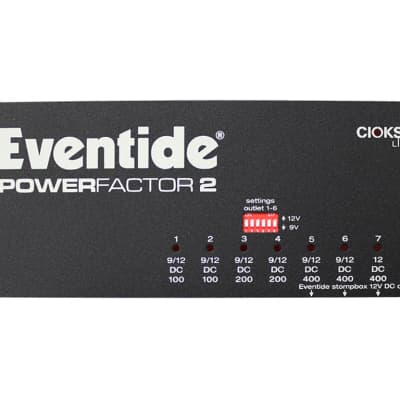 Eventide PowerFactor 2 Guitar Effects Power Supply For Pedal Pedalboard Stomp boxes