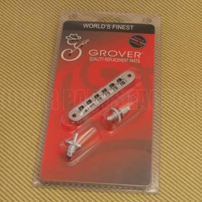 520C Grover Chrome Nashville Tune-o-matic Guitar Bridge Retro Fits USA Gibson for sale