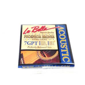 La Bella 7GPT Phosphor Bronze Acoustic Guitar Strings - Extra Light (10-50)