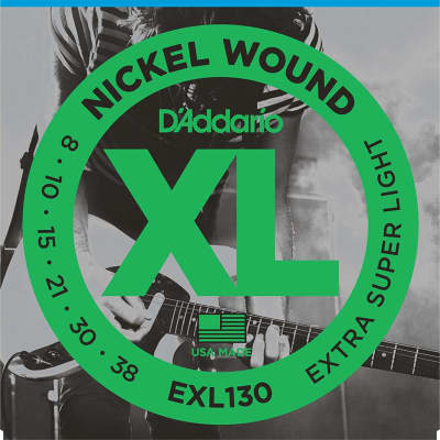 D'Addario EXL130 Nickel Wound Electric Guitar Strings, Extra-Super Light Gauge