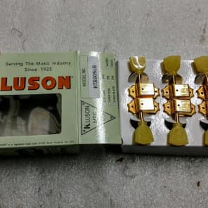 Kluson Supreme 3+3 Gold Single Line 18:1 ratio tuners fits Gibson