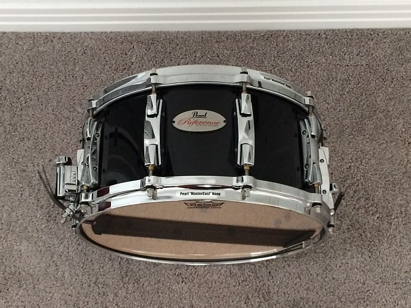 pearl reference 14 x 6 5 snare drum piano black reverb. Black Bedroom Furniture Sets. Home Design Ideas