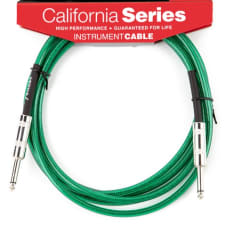 Fender California Instrument Cable, 10', Surf Green