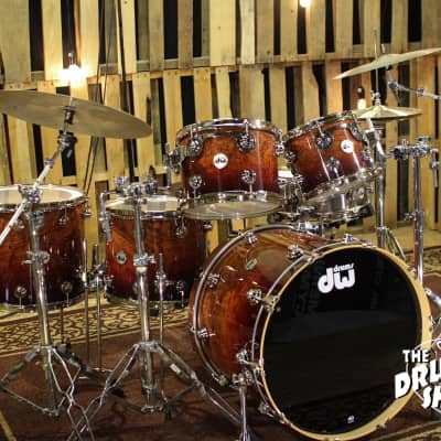 DW Collectors Series Exotic in Natural To Deep Rich Red Fade Over Bubinga Pomele