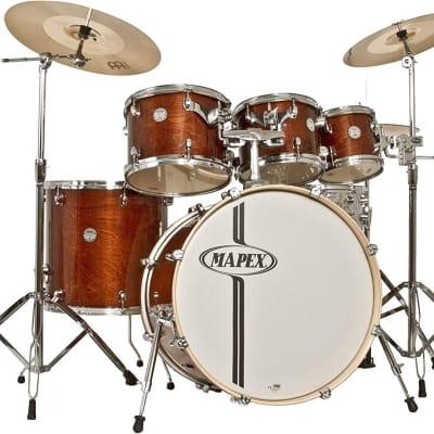 Mapex HZB629S-J-B-WT Horizon Birch 6 Piece Drum Shell Pack, Transparent Walnut