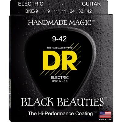 DR Strings BKE-9 Black Beauties Coated Electric Light 9-42