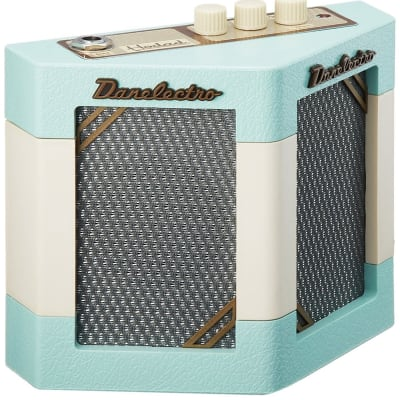 Mini Guitar Amp Battery Powered AC Mobile Danelectro Hodad II Aqua Cream New for sale