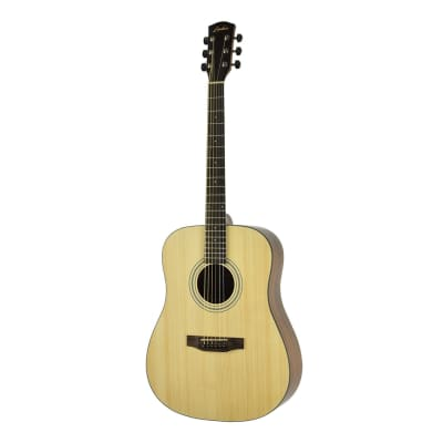 Lorden Solid Spruce Top OM Style Acoustic Guitar with Gig Bag (Natural Satin) for sale