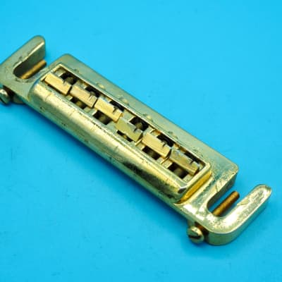 Leo Quan Badass Wraparound Bridge Intonatable Tailpiece Tune-o-Matic Aged Gold for Gibson, PRS for sale