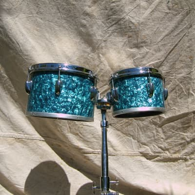 Slingerland Melodic toms Turquoise Pearl