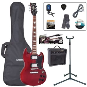 ENCORE ELECTRIC GUITAR OUTFIT - CHERRY RED for sale