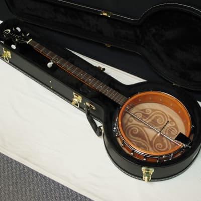 LUNA BGB Celtic 5-string Bluegrass Resonator BANJO w/CASE - Laser Etched Trinity for sale