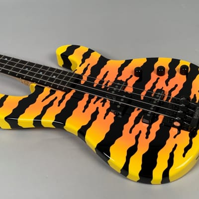 Charvel Custom Shop San Dimas Bass, Exceptionally Rare! 2007 Yellow Bengal for sale
