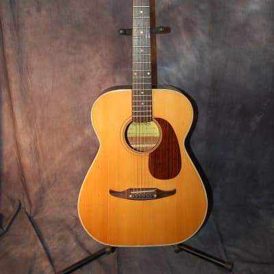 1975 Montano by Takamine F190 Folk Guitar Concert Size Pro Setup New strings Orig Soft Shell Case for sale